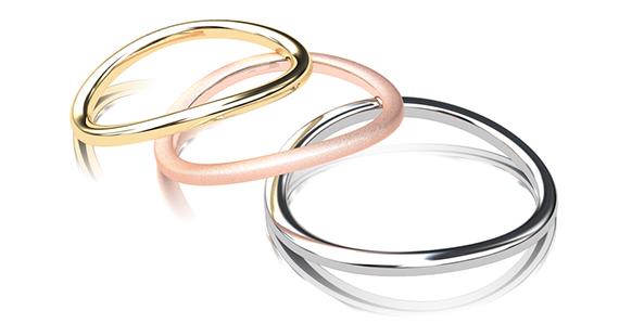 指輪 イエローゴールド ピンクゴールド プラチナ