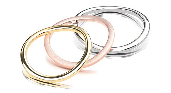 イエローゴールド ピンクゴールド 結婚指輪