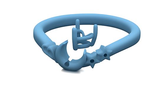 婚約指輪 精密なモデル型