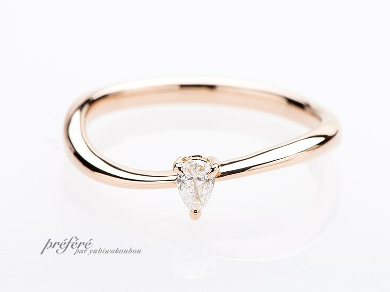 価格の安いピンクゴールドの婚約指輪