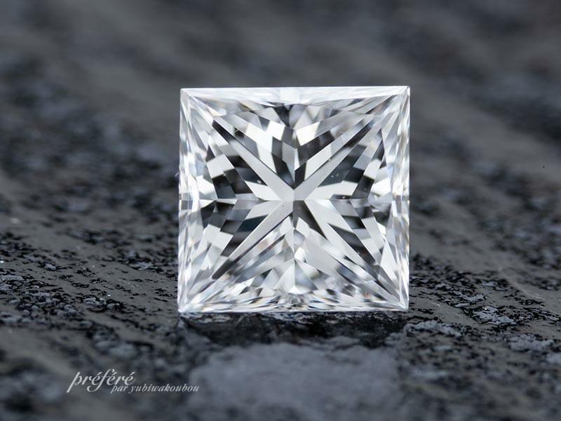 プリンセスカットのダイヤモンド