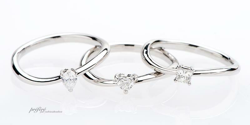 プラチナ素材のお得な婚約指輪