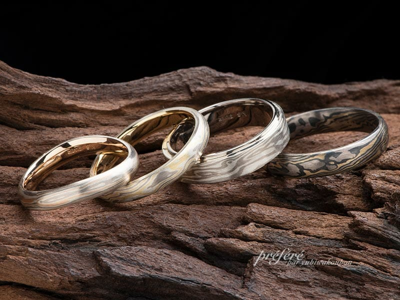 杢目金の結婚指輪
